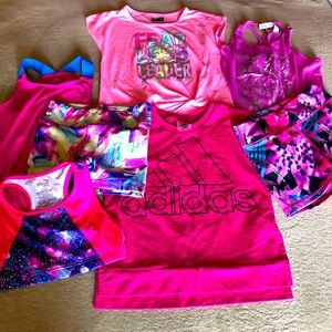 7 piece girl bundle sport training clothes 10/12